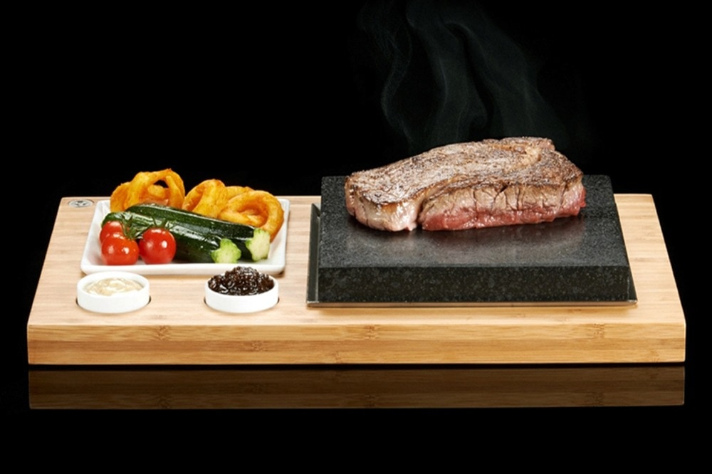 The SteakStones Steak Plate & Sauces Set (SS002B ...